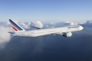 Paris flyg med Air France